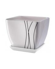 Donica ceramiczna biała 15 cm