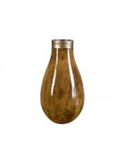 Wazon ceramiczny żółto-brązowy 46cm