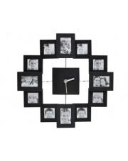 Pomysłowy zegar ścienny z ramkami na zdjęcia śr.35,5 w sklepie Dedekor.pl