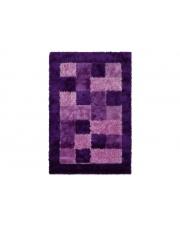 Dywan w Kratę Shaggy Polyester purple 160/220cm