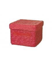 Ozdobny kosz z pokrywą i uchwytami Red Square 18x18x13 czerwony