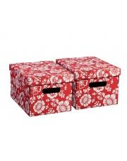 Pudełko kwiaty czerwone 21cm
