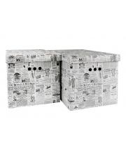 Dekoracyjne pudło gazeta 2 szt. 42x32x32 kartonowe