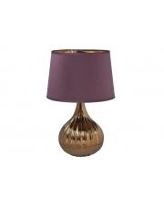 Fioletowa lampa stołowa Purple 30x30x45 w sklepie Dedekor.pl