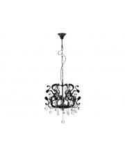 Dekoracyjna lampa wisząca Swan czarna