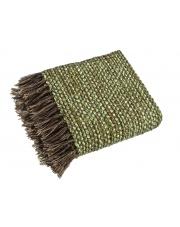 Ozdobny koc Green z frędzlami 200x150 w sklepie Dedekor.pl