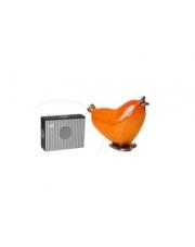 Ozdobny ptaszek miłości pomarańczowy ceramika 12,5x5x15,5 w sklepie Dedekor.pl