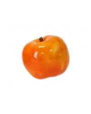 Pomarańczowe jabłko dekoracyjne ceramika 9x9x9 w sklepie Dedekor.pl