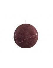 Dekoracyjna świeca zapachowa Rustic cynamon, kula 8x8