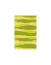 Zielony dywan prostokątny Shaggy 120x180 prążki