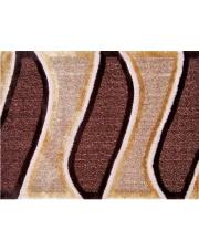 Prostokątny dywan Cut & Loop 140x200 fale brązowo-beżowe w sklepie Dedekor.pl