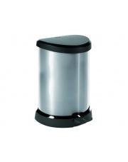 Kosz na śmieci z pokrywką 20l metalizowany