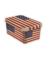 Dekoracyjne pudełko z przykrywką Flaga Amerykańska 29,5x19,5x13,5