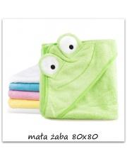 Kocyk, okrycie kąpielowe zielona żabka 80x80 w sklepie Dedekor.pl