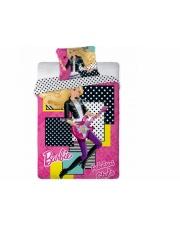 Bawełniana pościel Barbie Music 160x200+70x80 komplet