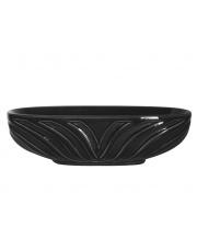 Dekoracyjna misa ceramiczna 38x16x11 czarna w sklepie Dedekor.pl