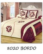 Narzuta na łóżko Elana 200x220 kremowo-bordowa w sklepie Dedekor.pl