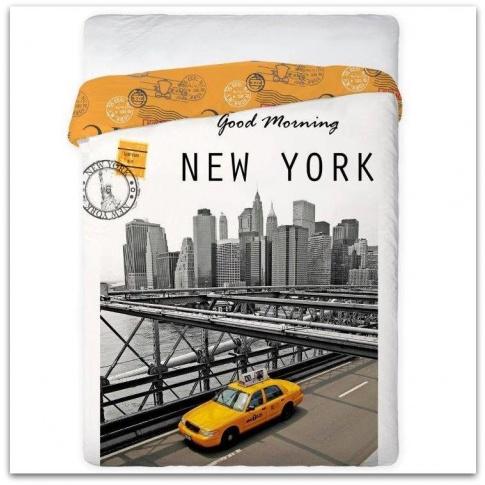 Pościel podróżnika New York Yellow 160x200 w sklepie Dedekor.pl