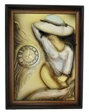 Ścienny zegar dekoracyjny Lady 60x80 rękodzieło w sklepie Dedekor.pl