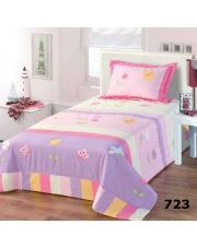 Bajkowa narzuta dziecięca na łóżko kwiatki 170x210+50x70 w sklepie Dedekor.pl