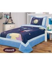 Granatowa narzuta na łóżko dla dzieci 170x210+50x70 kosmos w sklepie Dedekor.pl