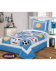 Dziecięca narzuta na łóżko 170x210+50x70 sport w sklepie Dedekor.pl