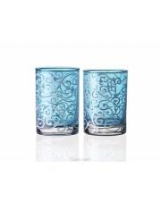 Dekoracyjny świecznik szklany T-light niebieski A-2 w sklepie Dedekor.pl