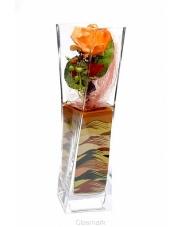 Nowoczesny wazon dekoracyjny Twister 8x8x30 szklany w sklepie Dedekor.pl