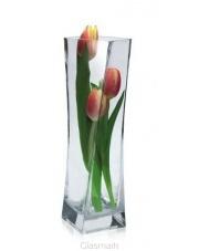 Stylowy wazon dekoracyjny ze szkła Twister 8x8x25 w sklepie Dedekor.pl