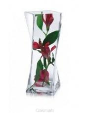 Ozdobny wazon szklany Twister 10x10x25 w sklepie Dedekor.pl