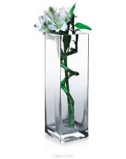 Stylowy wazon ze szkła Kwadrat 25x8x8 w sklepie Dedekor.pl