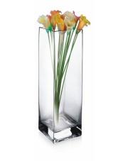 Nowoczesny wazon dekoracyjny ze szkła Kwadrat 25x10x10 w sklepie Dedekor.pl