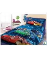 Bajkowa narzuta na łóżko dla dzieci Cars 160x200 niebieska w sklepie Dedekor.pl