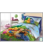 Dziecięca narzuta bajkowa na łóżko Kubuś Puchatek 160x200 bawełna w sklepie Dedekor.pl