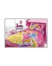 Różowa narzuta na łóżko dla dzieci Księżniczka 160x200 bawełna w sklepie Dedekor.pl