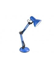 Niebieska lampa biurkowa rozkładana Tim wys.53 w sklepie Dedekor.pl