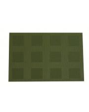 Ozdobna mata stołowa w kratkę Velvet 30x45 green w sklepie Dedekor.pl