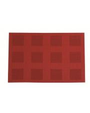 Uniwersalna mata stołowa w kratkę Velvet 30x45 czerwona w sklepie Dedekor.pl
