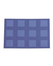 Kuchenna mata ozdobna w kratę Velvet 30x45 niebieska