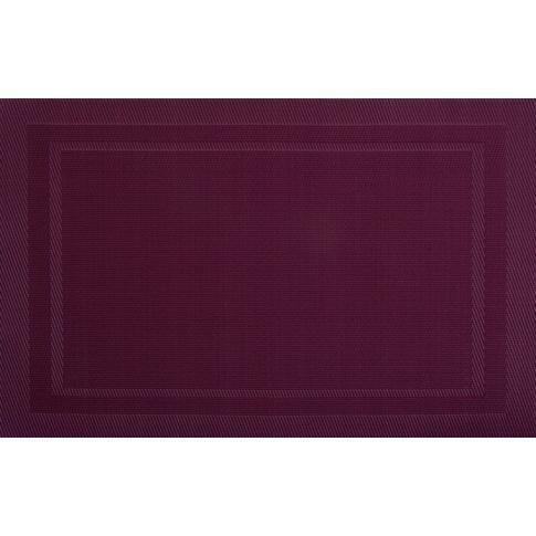 Mata stołowa PVC/PS wiśnia 30x45cm VELVET w sklepie Dedekor.pl