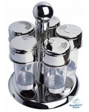 Przyprawniki obrotowe szklane 5 szt