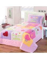 Narzuta dziecięca dla dziewczynki serca 170x210+50x70 w sklepie Dedekor.pl