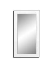 Ozdobne lustro w białej ramie 90x50 cm w sklepie Dedekor.pl