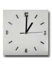 Elegancki zegar ścienny szklany 25x25 cm -  kolory w sklepie Dedekor.pl