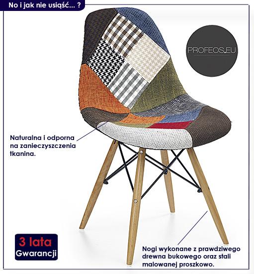 krzesło patchwork