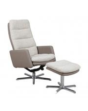 BRADLEY komfortowy  fotel beżowo-kremowy