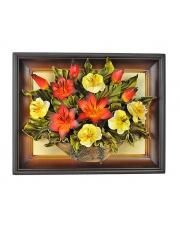 Obraz ze skóry kwiaty 3KW/020