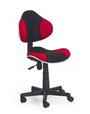 Fotel na kółkach FLASH  czarno-czerwony w sklepie Dedekor.pl