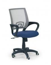 Fotel na kółkach IKAR fioletowo-szary