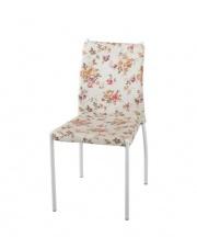 K169 krzesło beżowe z wzorami